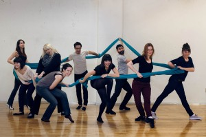 The whole team working on the Nuit Blanche piece!!! Photo by Adrienne Surprenant