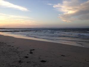 Sunset at Currarong beach